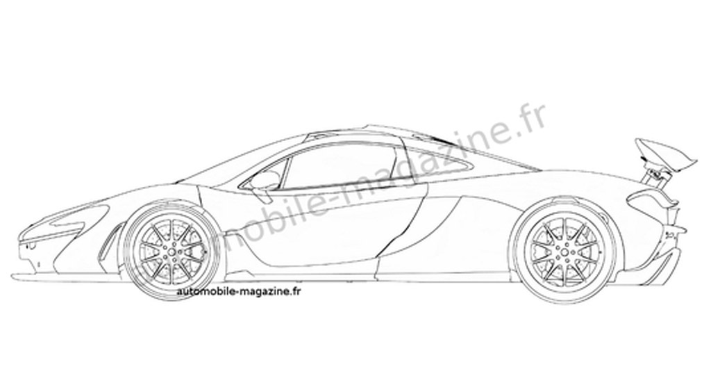 Mclaren P1 Gtr Logo >> Production McLaren P1 Revealed In Patent Drawing?