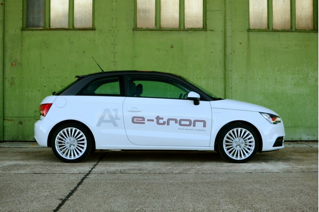 audi a1 e tron first drive of range extended electric car prototype. Black Bedroom Furniture Sets. Home Design Ideas