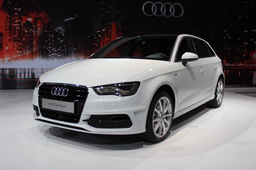 audi a3 tdi sportback unveiled at ny show to join sedan. Black Bedroom Furniture Sets. Home Design Ideas