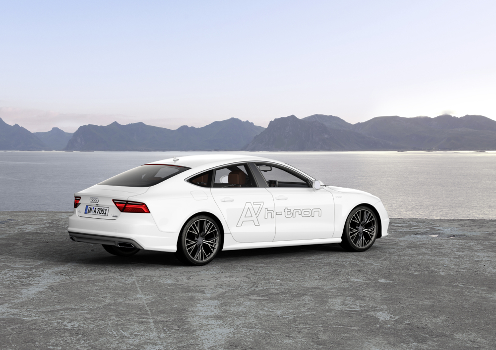 audi a7 h tron quattro 39 performance 39 fuel cell plug in car unveiled at 2014 la auto show. Black Bedroom Furniture Sets. Home Design Ideas