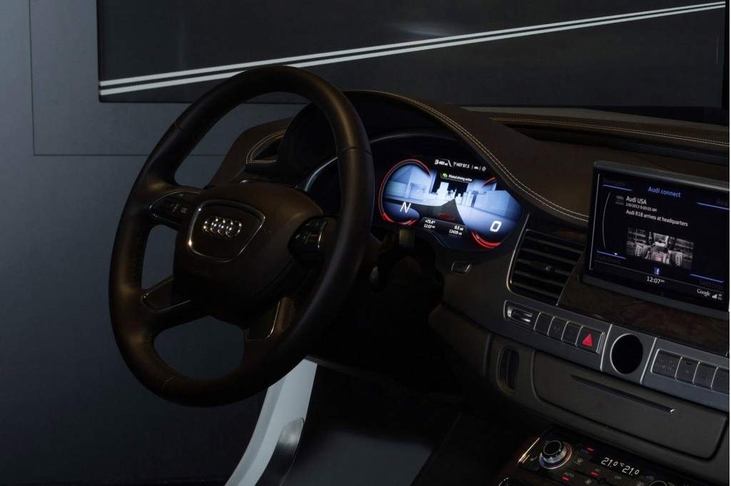 audi details autonomous system and new lighting technologies at ces. Black Bedroom Furniture Sets. Home Design Ideas