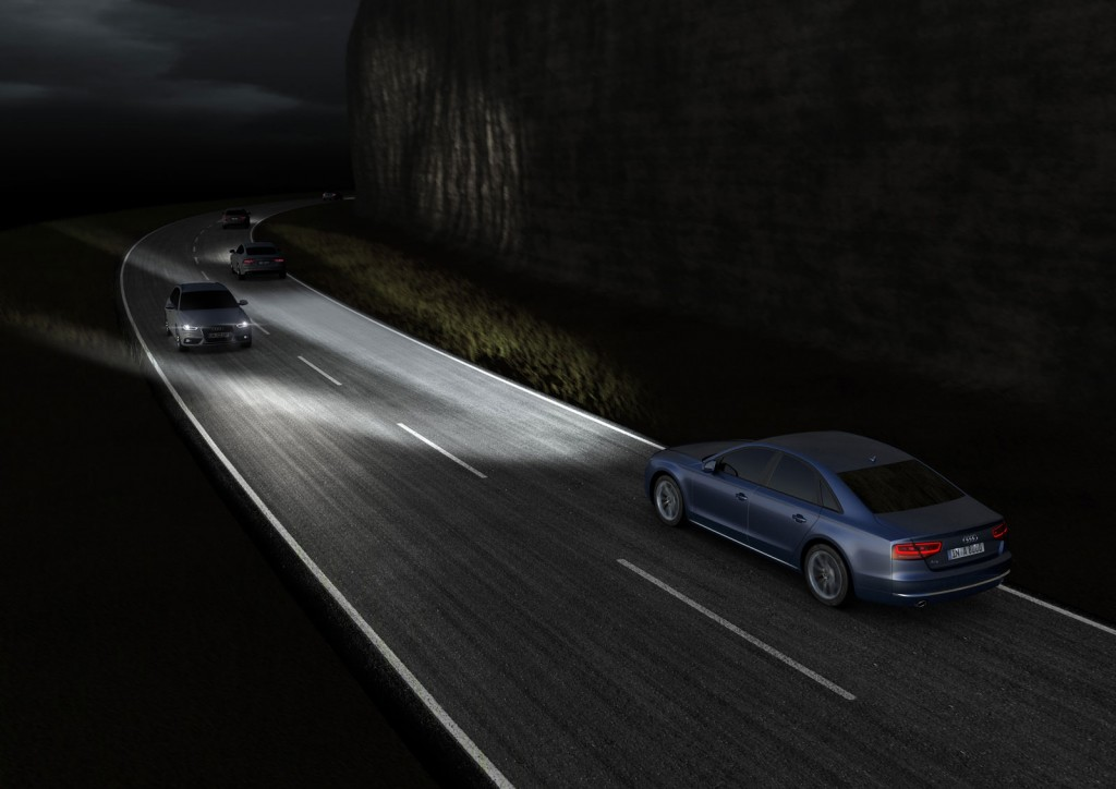 Audi Demonstrates Effects Of Matrix Led Headlights Video