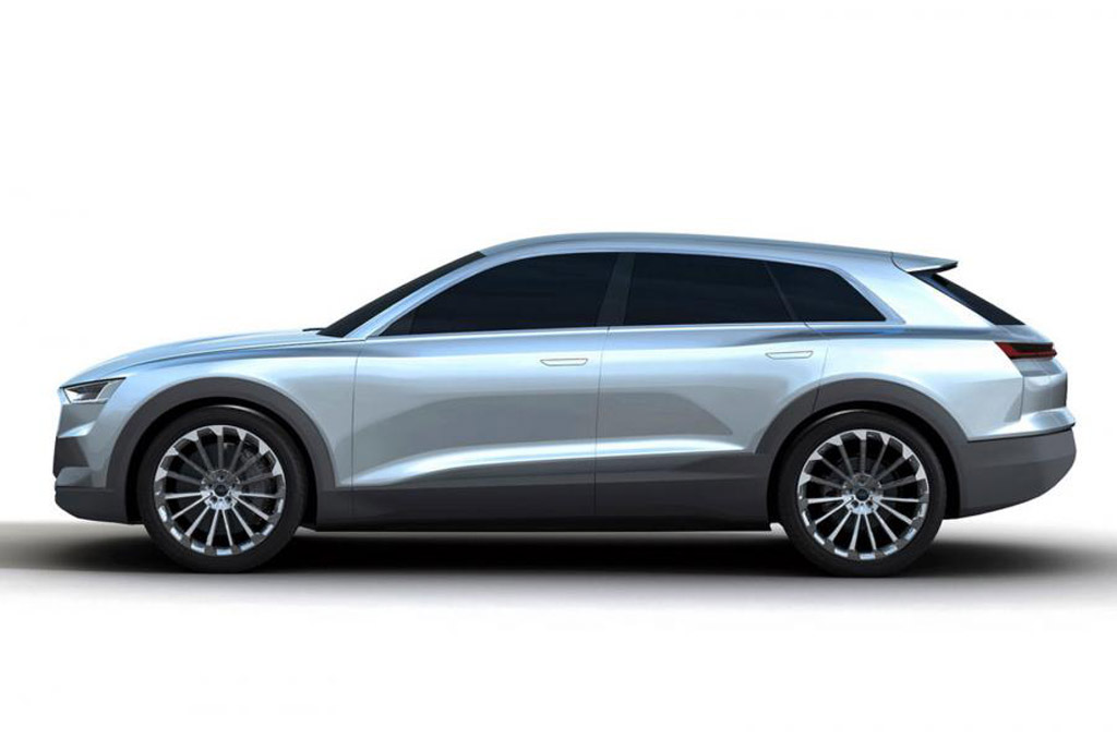 concept of tesla model x rivaling audi q6 leaks out ahead of frankfurt debut. Black Bedroom Furniture Sets. Home Design Ideas