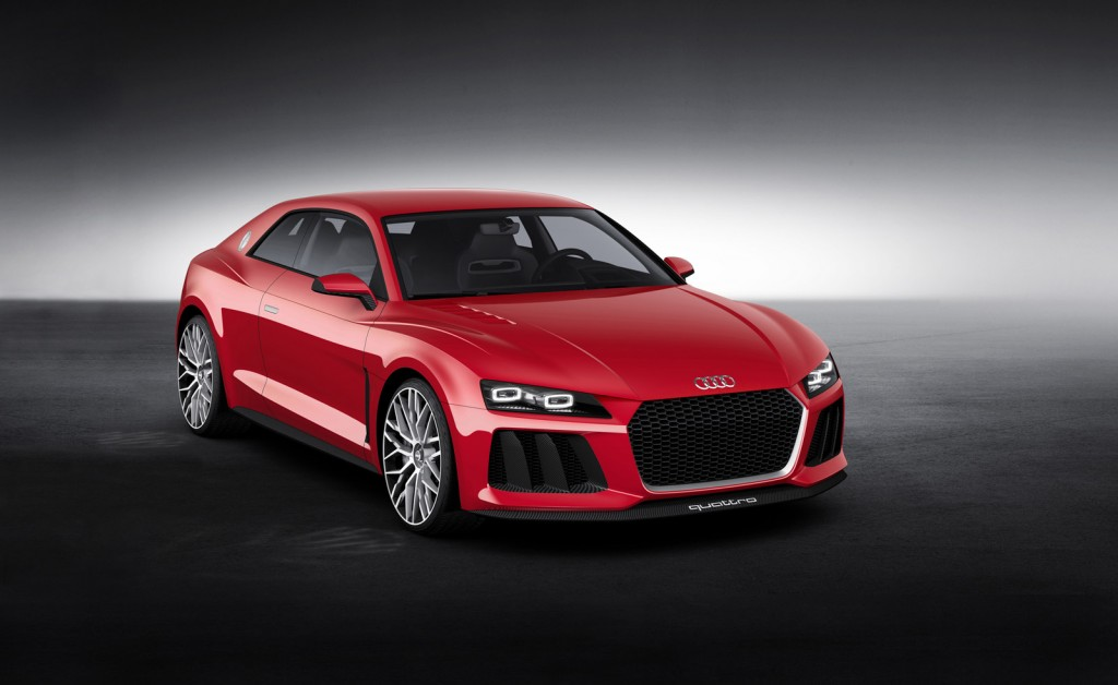 audi readies sport quattro concept with laser lights for 2014 ces. Black Bedroom Furniture Sets. Home Design Ideas