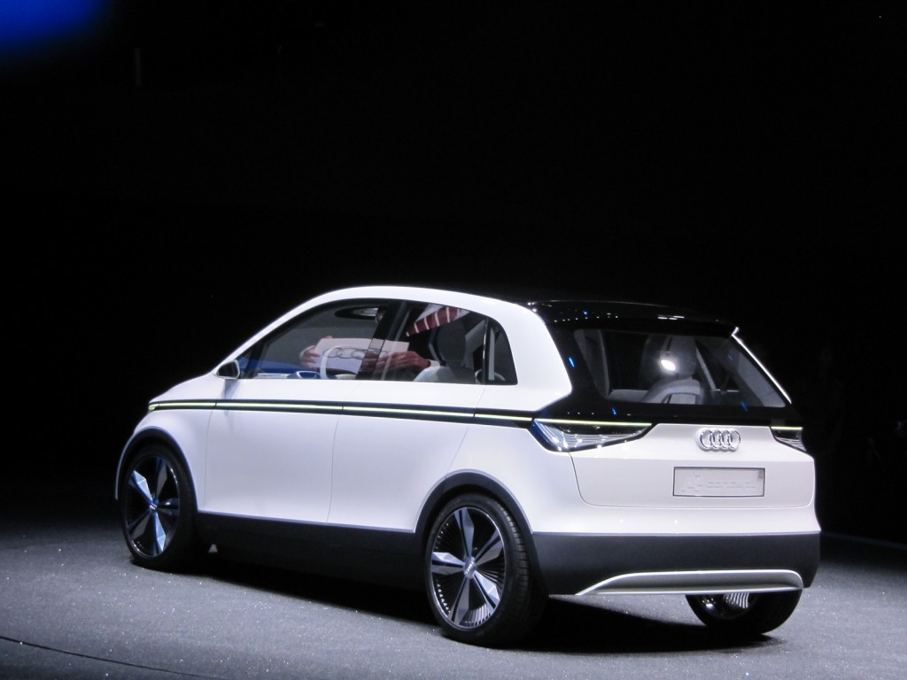 audi a2 electric concept live photos 2011 frankfurt auto show. Black Bedroom Furniture Sets. Home Design Ideas