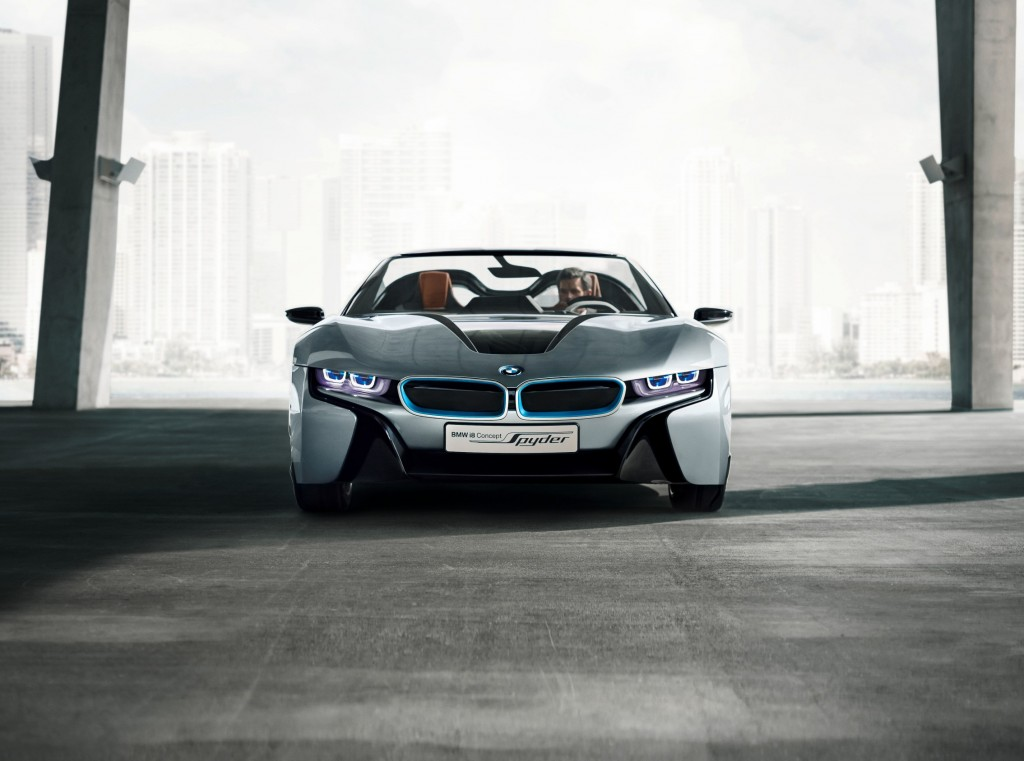 bmw 39 s electric range grows with 2015 bmw i8 concept spyder. Black Bedroom Furniture Sets. Home Design Ideas