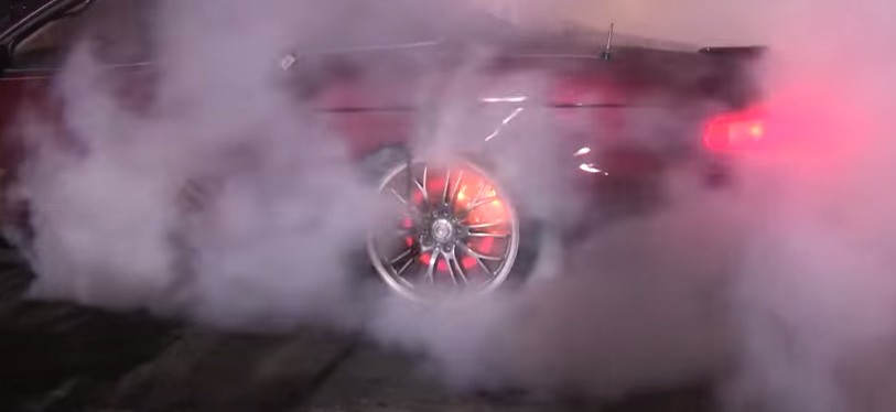 Lexus Sc400 Does Burnout Until Brakes Catch Fire Video