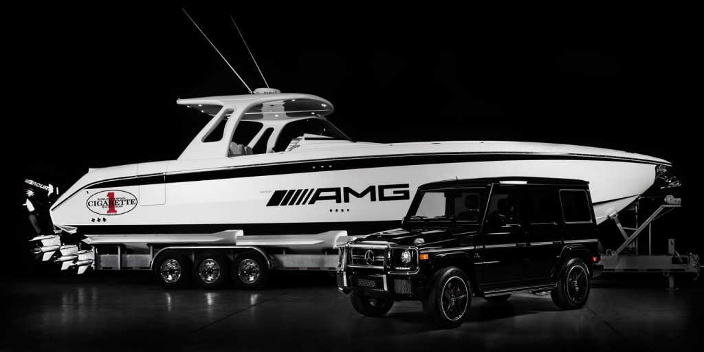 Meet cigarette racing s huntress the 42 foot boat for Mercedes benz yacht cost