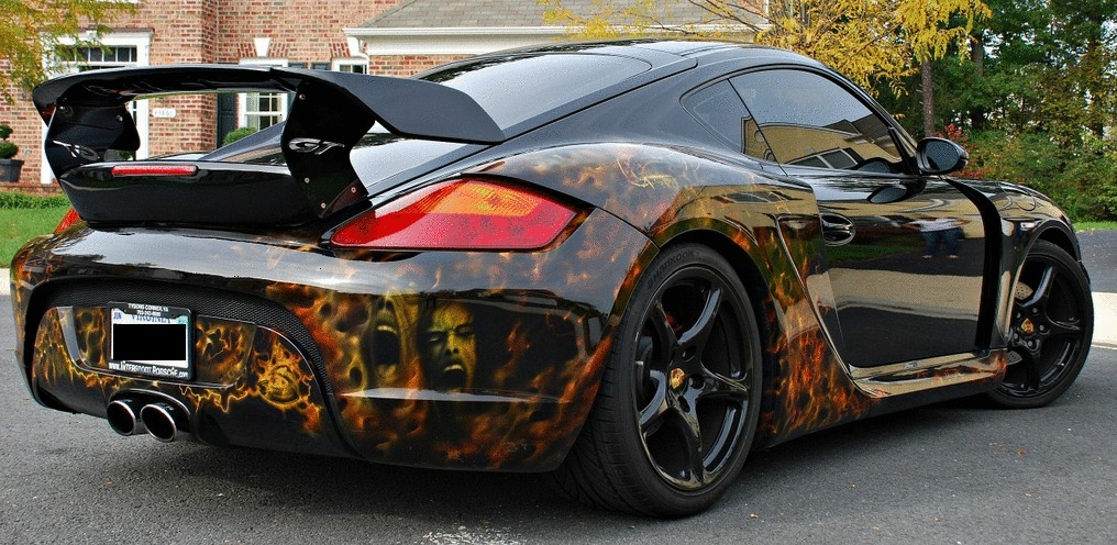 Image custom cayman s with techart wide body kit and paint job