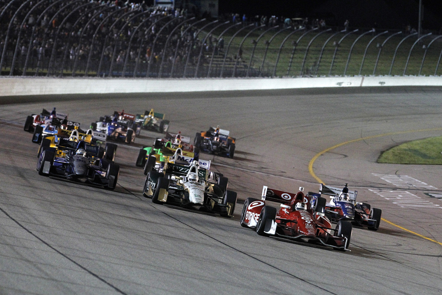 Dixon leads on the fifth restart - INDYCAR/LAT USA