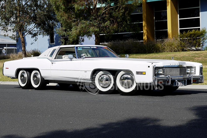 Eight Wheeled 1977 Cadillac Eldorado