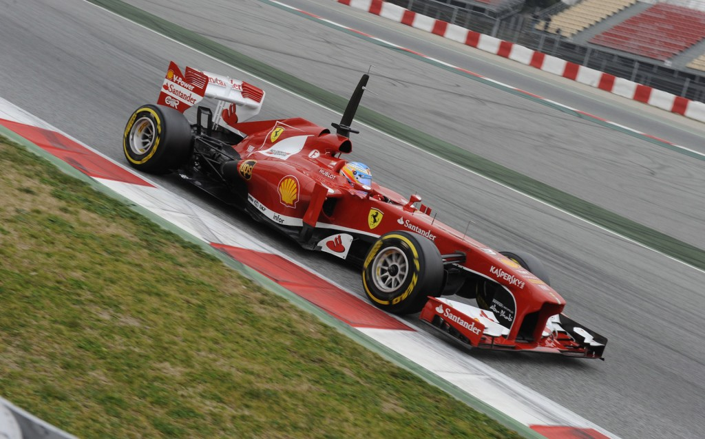 Ferrari's Fernando Alonso during testing for the 2013 Formula One season