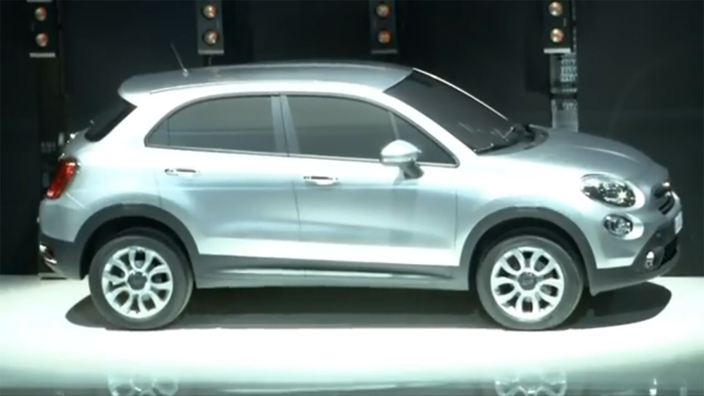 fiat 500x crossover teased during presentation of 500l mpv. Black Bedroom Furniture Sets. Home Design Ideas