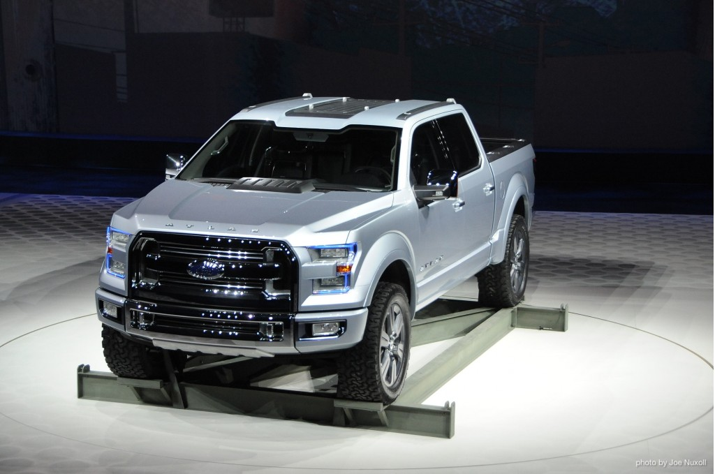 Ford f 150 atlas concept a transit pickup truck stays in for Protean electric motor for sale