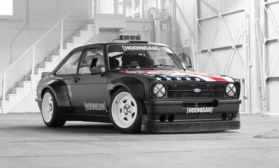Hoonigan Escort >> Ken Block Reveals His Hoonigan Gymkhana Ford Escort