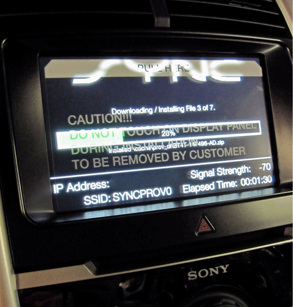 ford sync update instructions
