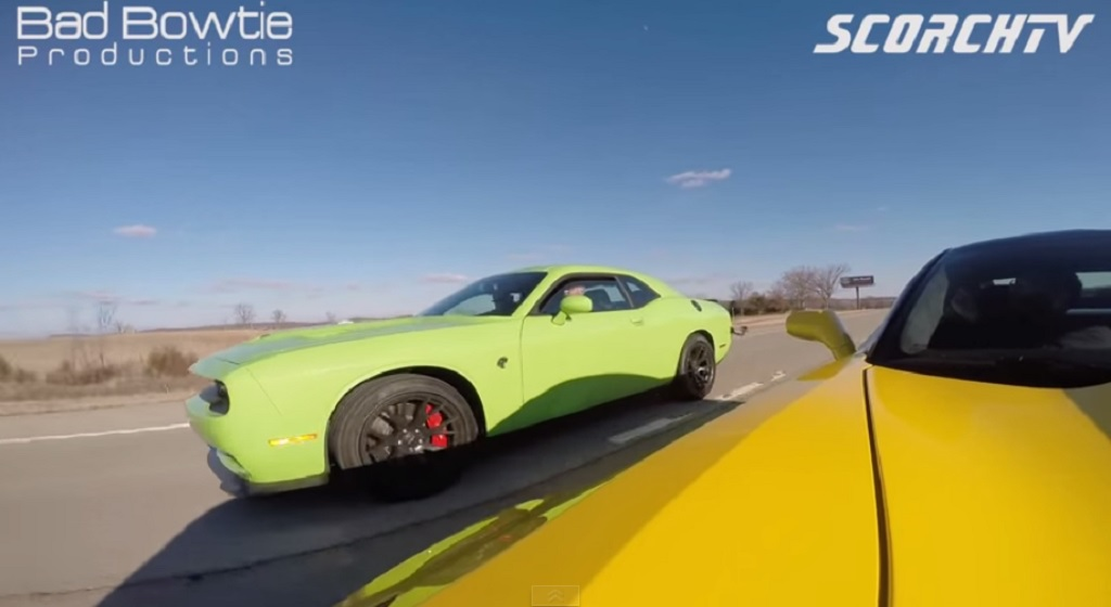 Freeway Three Way Corvette Z06 Vs Challenger Srt Hellcat