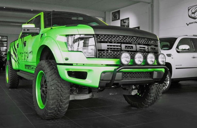 Green Ford Raptor