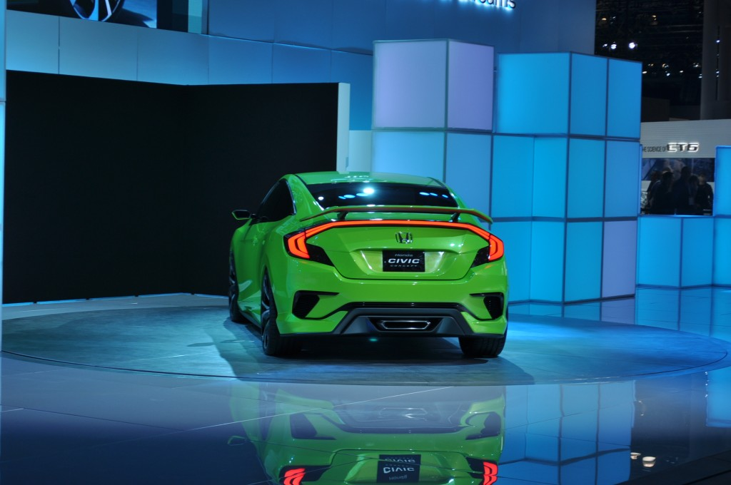 honda civic concept live shots 2015 new york auto show