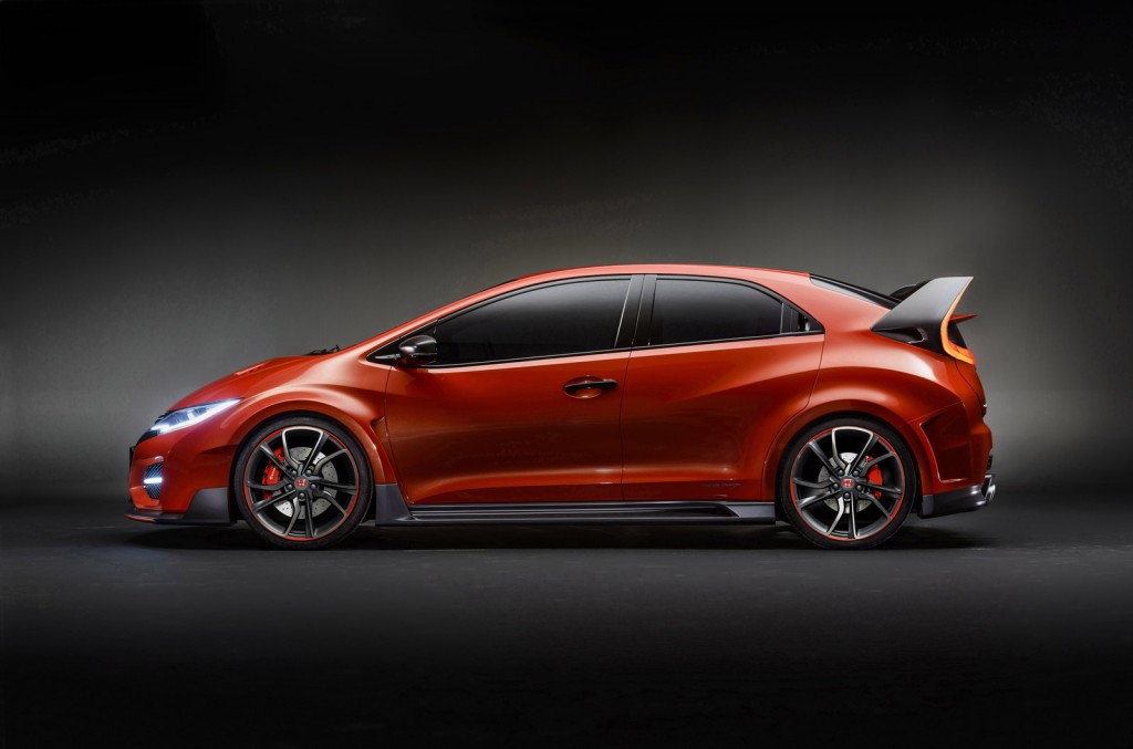 2015 honda civic type r concept revealed in geneva live. Black Bedroom Furniture Sets. Home Design Ideas