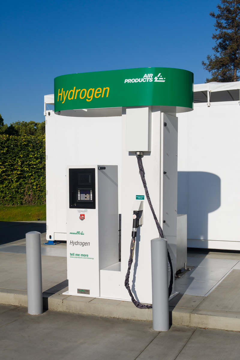 Honda hydrogen fueling station in Torrance, California.