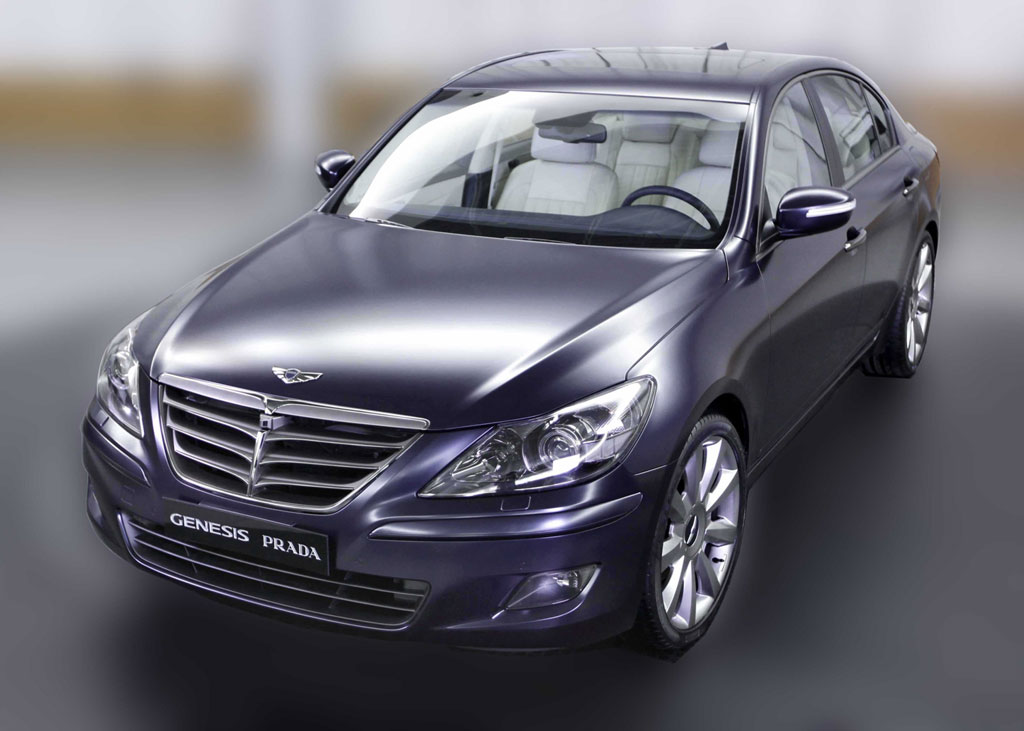 hyundai takes the wraps off prada edition genesis sedan. Black Bedroom Furniture Sets. Home Design Ideas