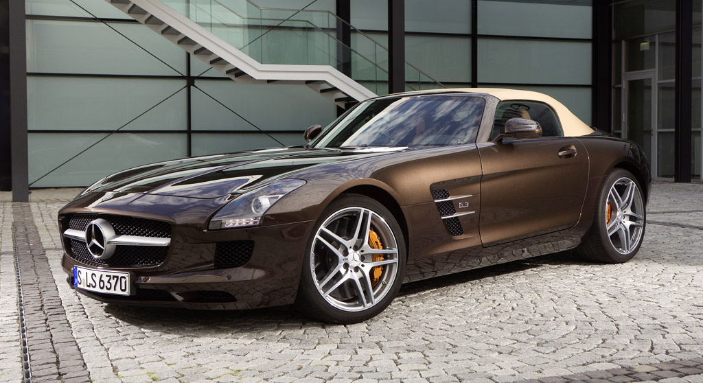 Mercedes benz sls amg supercar gets new options for Mercedes benz options