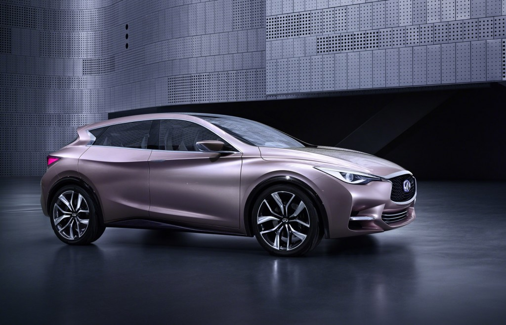 infiniti q30 concept revealed ahead of frankfurt auto show. Black Bedroom Furniture Sets. Home Design Ideas