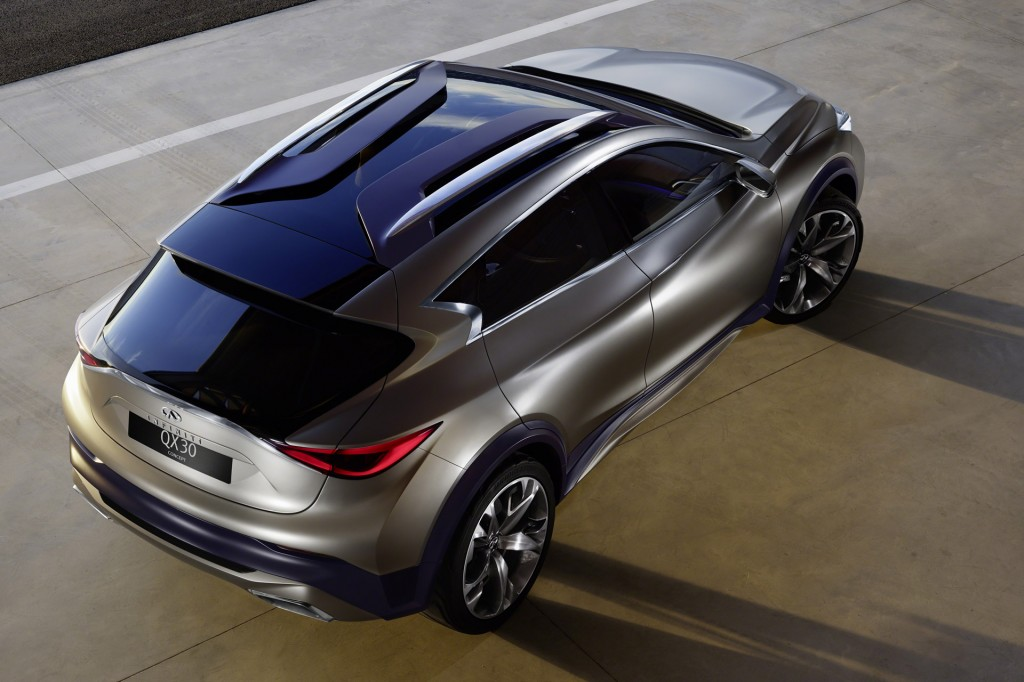 2017 infiniti qx30 with rugged lux style set to woo young urbanites. Black Bedroom Furniture Sets. Home Design Ideas