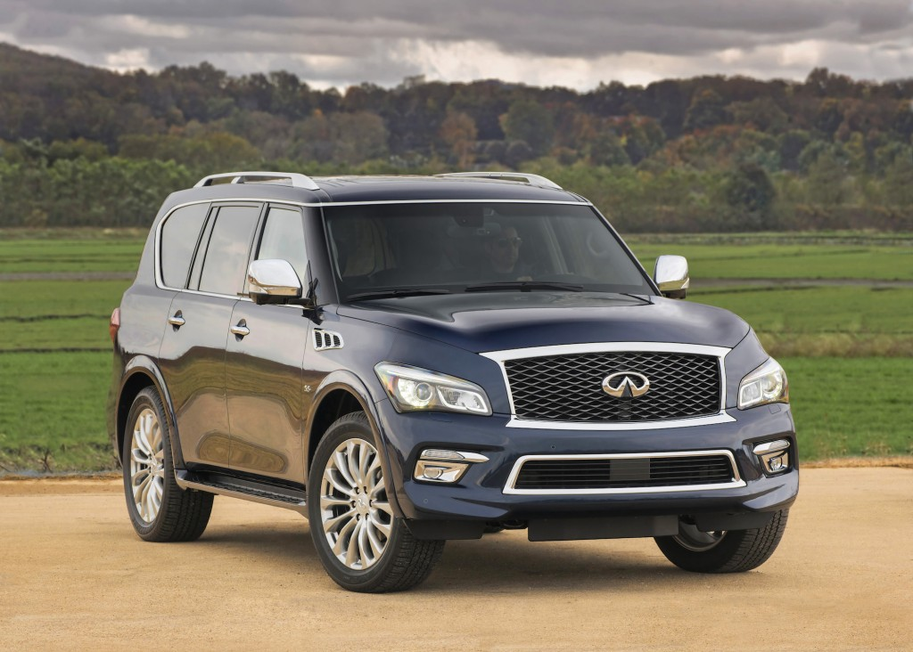 2015 infiniti qx80 gets styling updates new limited trim 2014 new york auto show. Black Bedroom Furniture Sets. Home Design Ideas