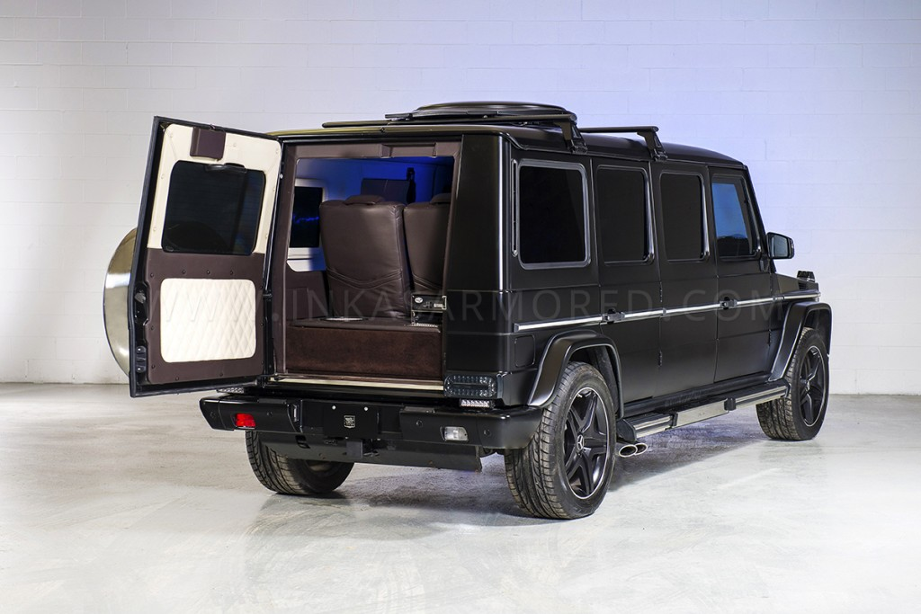 Inkas armored g63 amg is a tribute to dictatorial excess for Mercedes benz armored