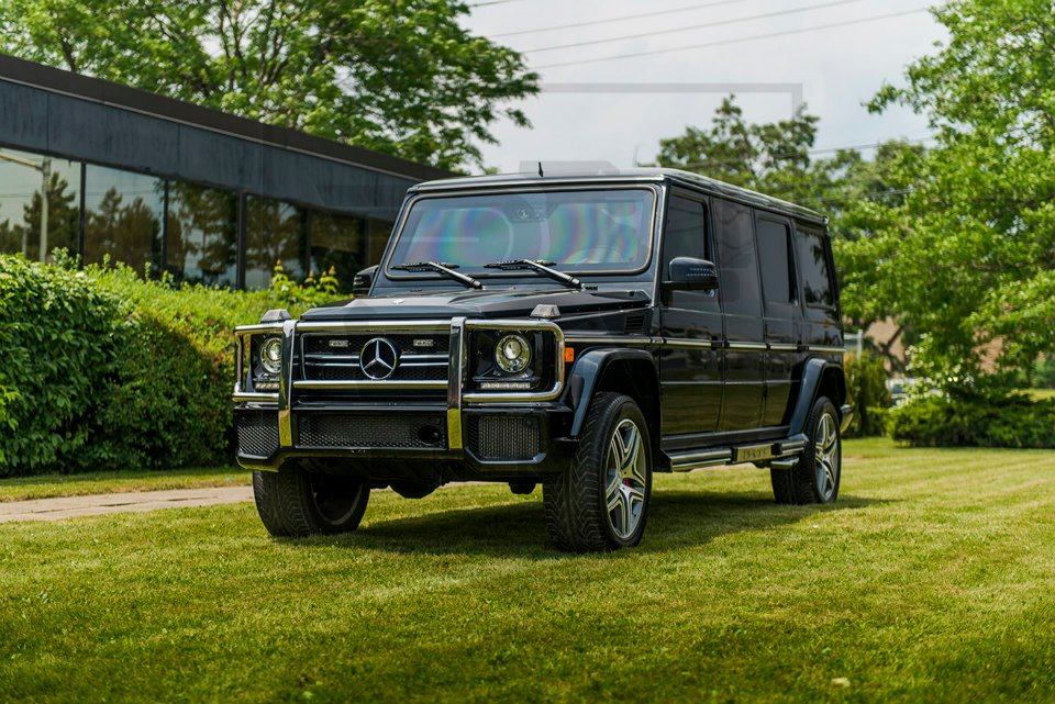 Mercedes Benz G Amg Armored Limo By Inkas Black Matte