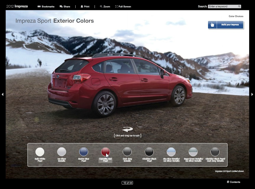 Dynamic Interactive 2012 Brochures – From Subaru Course
