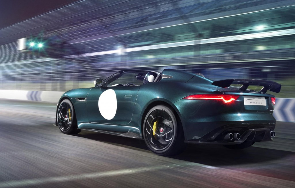 575 horsepower jaguar f type project 7 revealed video. Black Bedroom Furniture Sets. Home Design Ideas