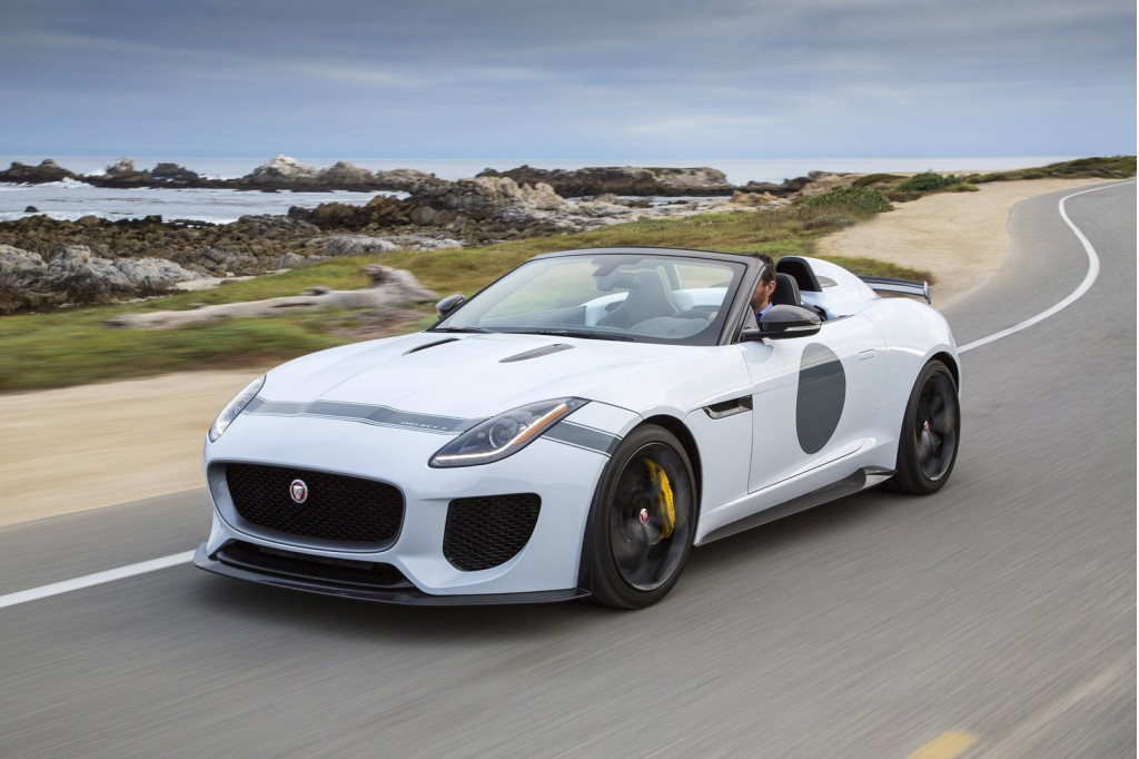 jaguar f type project 7 rolls into pebble beach with 165 925 price tag. Black Bedroom Furniture Sets. Home Design Ideas
