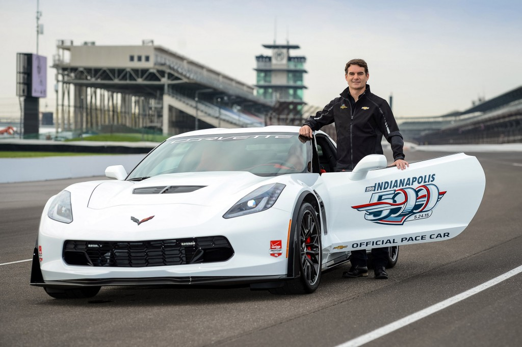 jeff gordon to pace 2015 indy 500 in a chevy corvette z06. Black Bedroom Furniture Sets. Home Design Ideas