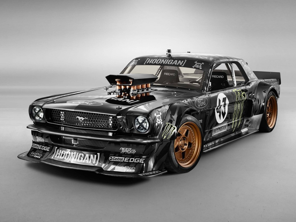 the hoonicorn rtr is an 845 hp awd retro mustang beast for ken block s gymkhana 7. Black Bedroom Furniture Sets. Home Design Ideas