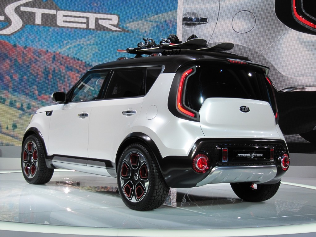 kia soul based trail 39 ster concept features electric awd live photos from chicago auto show. Black Bedroom Furniture Sets. Home Design Ideas
