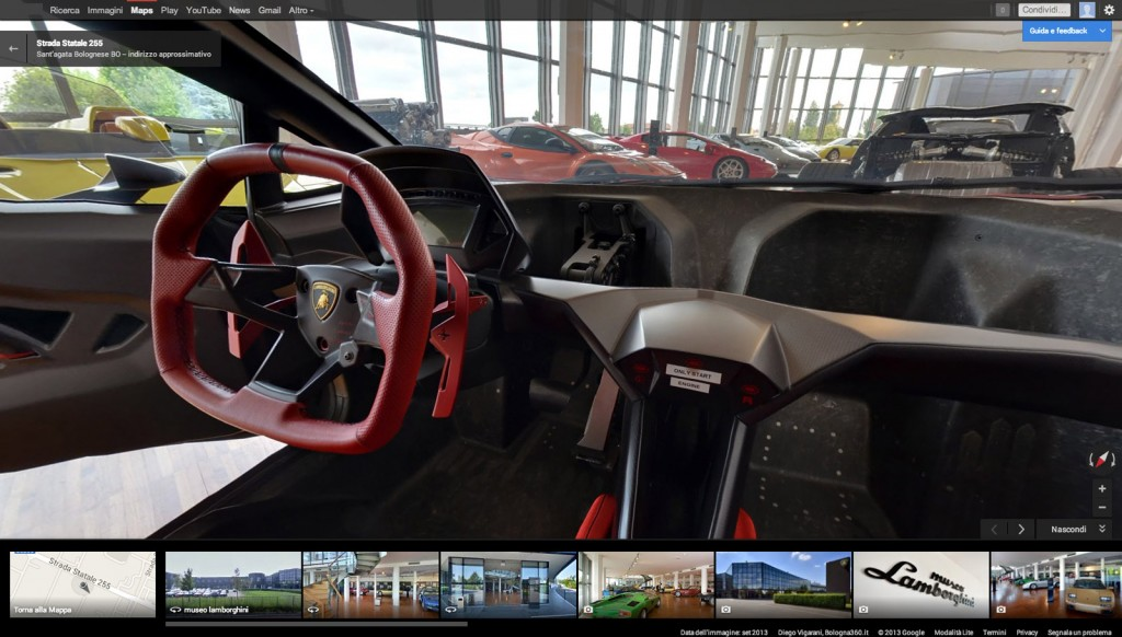 take a virtual tour of the lamborghini museum thanks to google maps. Black Bedroom Furniture Sets. Home Design Ideas