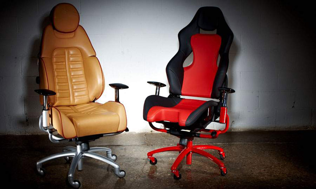 new office chairs come with distinct ferrari flavor. Black Bedroom Furniture Sets. Home Design Ideas