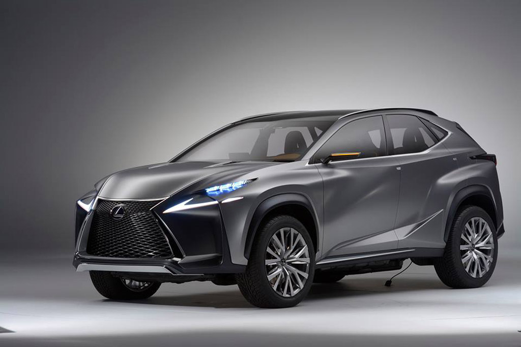 lexus lf nx compact crossover concept previews production 2015 lexus nx hybrid model. Black Bedroom Furniture Sets. Home Design Ideas