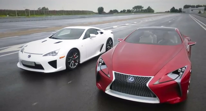 Lexus Lfa Meets The Lf Lc Concept Video