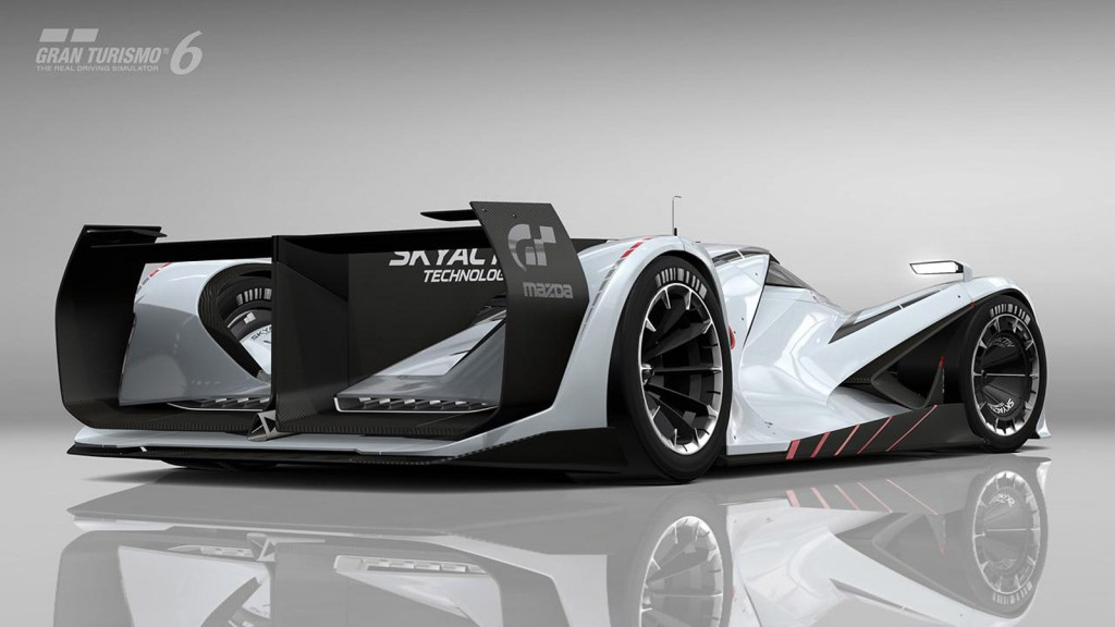 mazdas lm55 vision gran turismo concept is a modern 787b video. Black Bedroom Furniture Sets. Home Design Ideas