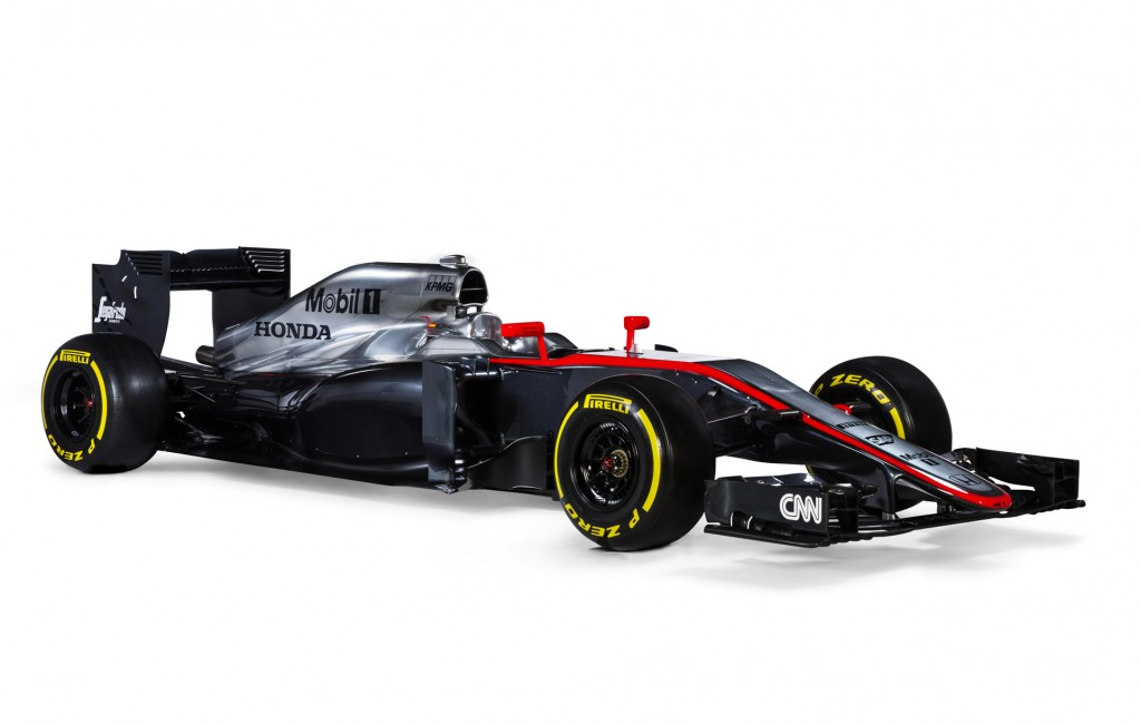 mclaren reveals honda powered mp4 30 2015 formula one car video. Black Bedroom Furniture Sets. Home Design Ideas