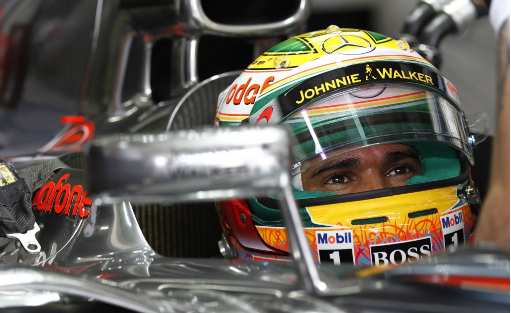 McLaren's Lewis Hamilton at the 2012 Formula 1 Brazilian Grand Prix