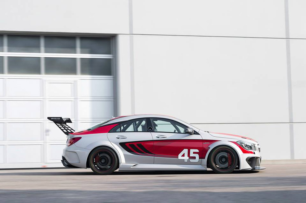 Mercedes benz reveals cla45 amg race car concept for Mercedes benz race