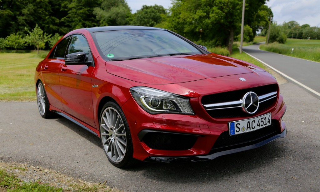 2014 mercedes benz cla 45 amg first drive for Red mercedes benz cla