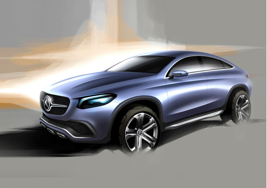 Mercedes benz concept coupe suv for Mercedes benz suv coupe