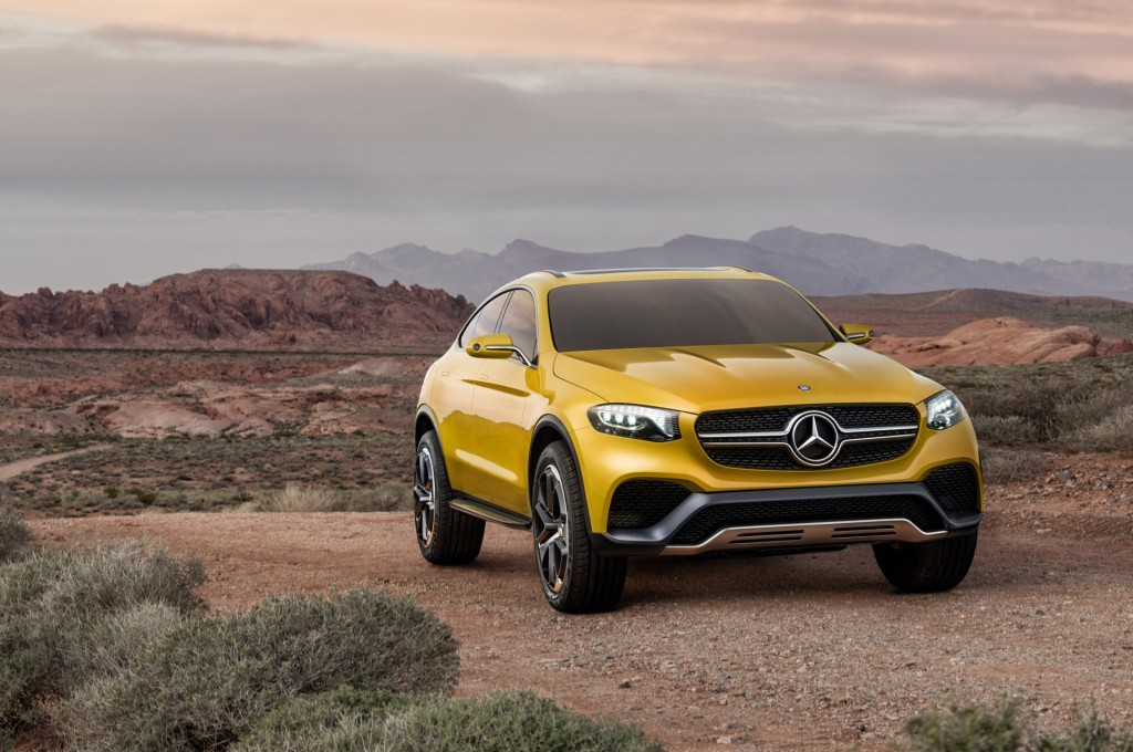Bmw x4 rivaling mercedes glc coupe previewed by new concept for Mercedes benz car show
