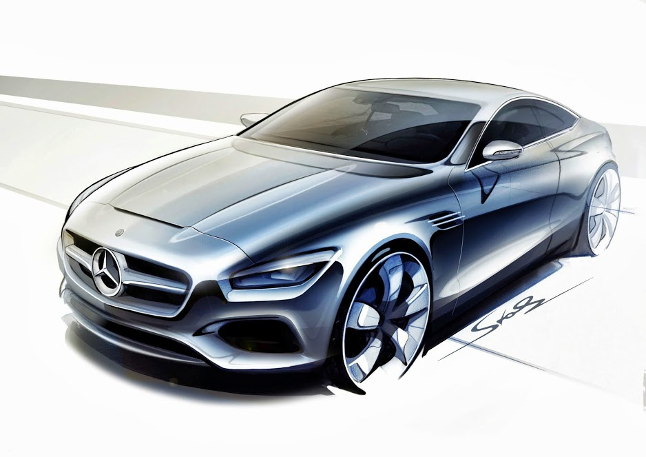 mercedes s class coupe concept teased in new photos and video. Black Bedroom Furniture Sets. Home Design Ideas
